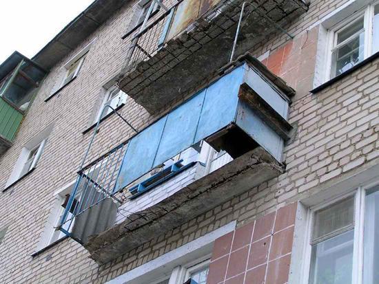 Ужасное состояние балкона
