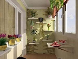 Балкон в интерьере квартиры