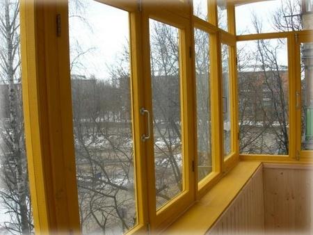 балкона остекления руками своими для деревянные рамы