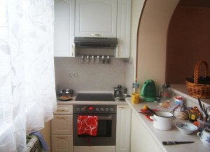 Совмещенная кухня с лоджией