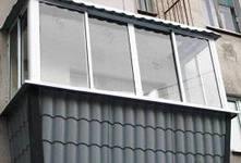 Балкон вид снаружи