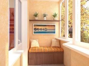Балкон - комната релаксации