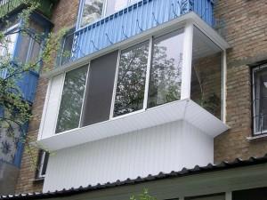 Расширение балкона при остеклении