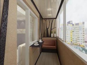 Оформление узкого и длинного балкона