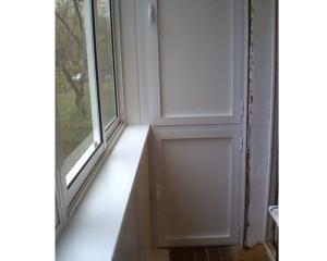 Окна внутри балкона
