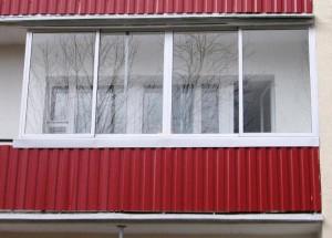 Вид балкона снаружи