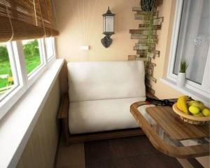 Место для отдыха на балконе