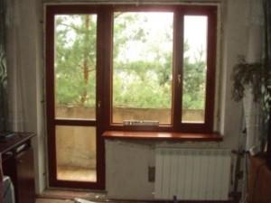 Деревянные балконные блоки