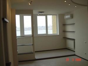 Балкон и комната вместе