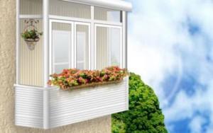 Отделка балкона белым пластиком