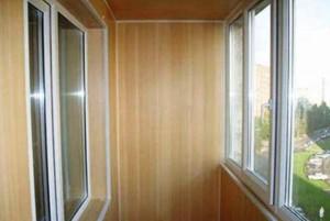 Вариант отделки балкона