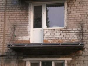 Пол балкона без стенок