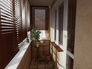 Узкий и длинный балкон