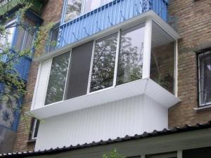Вынос балконов - остекление