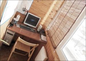 Обустройство балкона под кабинет