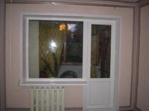 Сплошное окно и балконная дверь