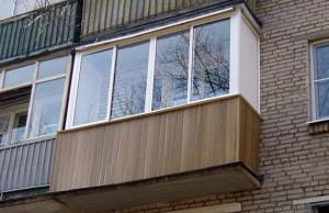 Установка балкона и его обшивка