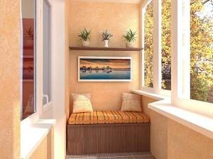 Тепло и уютно на балконе