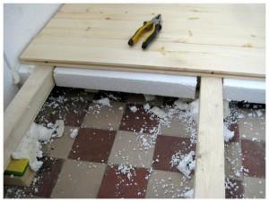 Пенопласт под деревянный пол