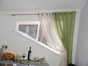 Цвет штор для кухни