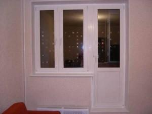 Балкон с новой дверью